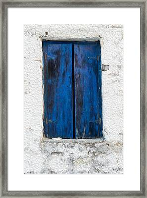 Old Shutters Framed Print