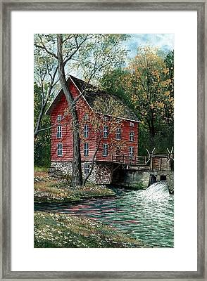 Old Time Mill Framed Print by Steven Schultz