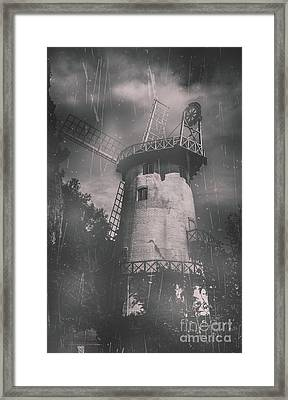 Old Tower Mill Building. Historic Fine Art Photo Framed Print by Jorgo Photography - Wall Art Gallery