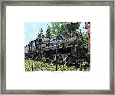 Framed Print featuring the photograph Old Train  by Kenneth De Tore