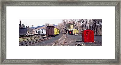 Old Train Terminal, Chama, New Mexico Framed Print