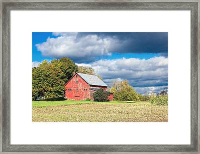 Old Vermont Barn Framed Print by William Alexander