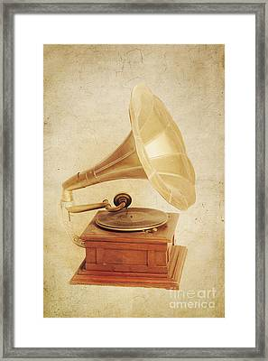 Old Vintage Gold Gramophone Photo. Classical Sound Framed Print by Jorgo Photography - Wall Art Gallery