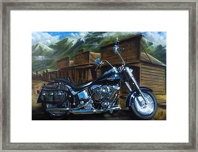 Old West Fat Boy Framed Print by Tim  Scoggins