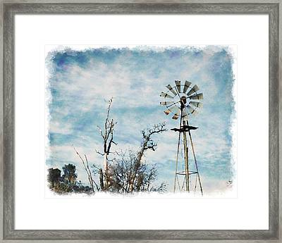 Old West Wind Wheel Framed Print