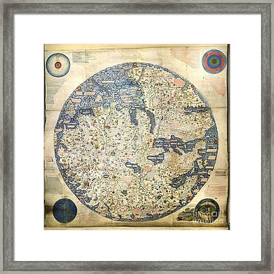 Old World Vintage Map Framed Print by Inspired Nature Photography Fine Art Photography