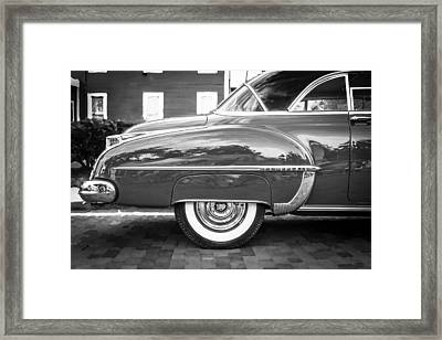 Oldsmobile 88 Futurmatic Coupe Bw  Framed Print