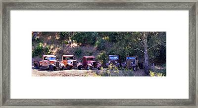 Oldtimers Rendezvous Framed Print by Lynn Bauer