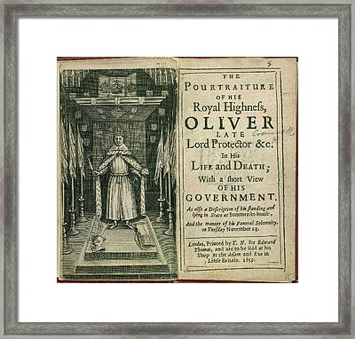 Oliver Cromwell Framed Print by British Library