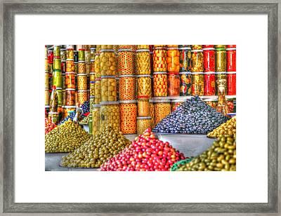 Olives Framed Print by Sophie Vigneault