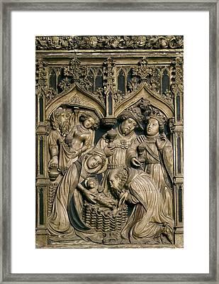 Oller, Pere 15th Century. Altarpiece Framed Print by Everett