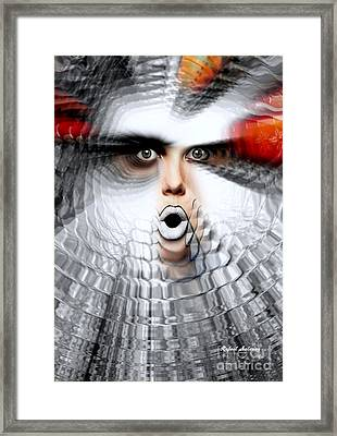 Framed Print featuring the painting OMG by Rafael Salazar