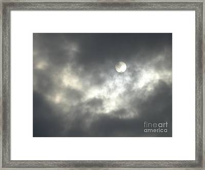 On A Scary Night Framed Print