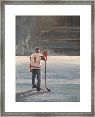On Frozen Pond - Gordie Framed Print