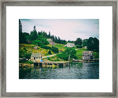 On The Bay In Frenchboro Maine Framed Print
