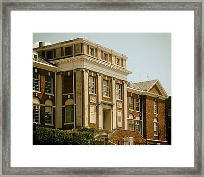 On The Campus Of Howard University - Washington Dc Framed Print by Mountain Dreams