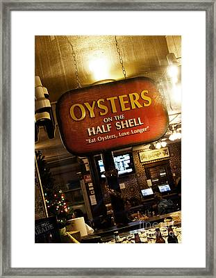 On The Half Shell Framed Print
