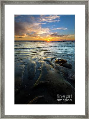 On The Horizon Framed Print by Mike  Dawson