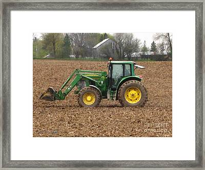 On The Land In May Framed Print by J McCombie