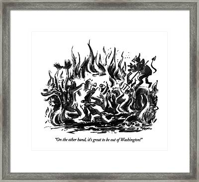 On The Other Hand Framed Print by Lee Lorenz