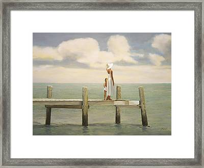 On The Pier Framed Print by Mark Van Crombrugge