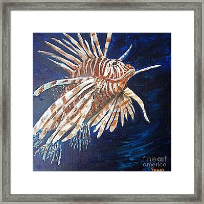 On The Prowl Framed Print by Vonda Lawson-Rosa