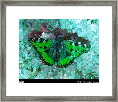 On The Rocks Teal Framed Print by Holley Jacobs