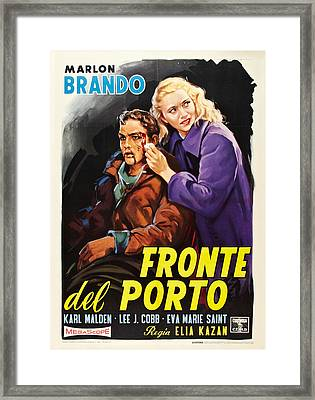On The Waterfront Aka Fronte Del Porto Framed Print by Everett