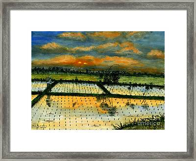 On The Way To Ubud Iv Bali Indonesia Framed Print