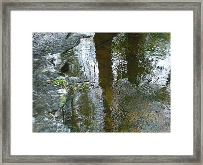 On Under And Through Framed Print
