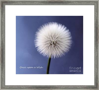 Once Upon A Wish Framed Print by Krissy Katsimbras