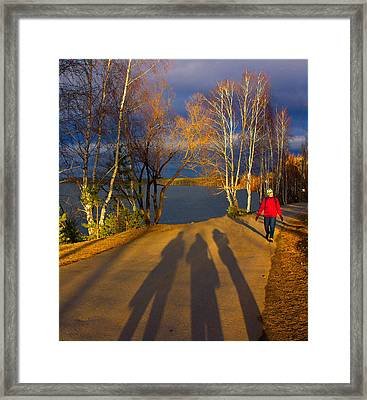 One Autumn Day Framed Print