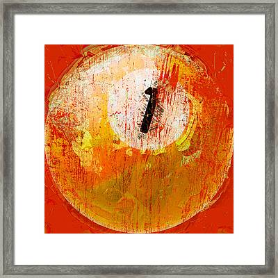 One Ball Billiards Abstract Framed Print by David G Paul
