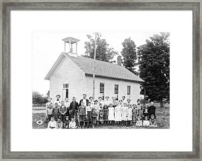 One Room Schoolhouse Framed Print