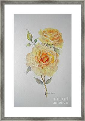 Framed Print featuring the painting One Rose Or Two by Beatrice Cloake