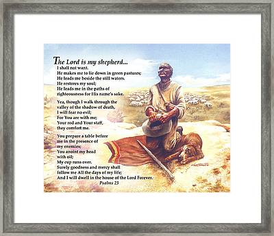 One Shepherd To Another Framed Print by Nate Owens