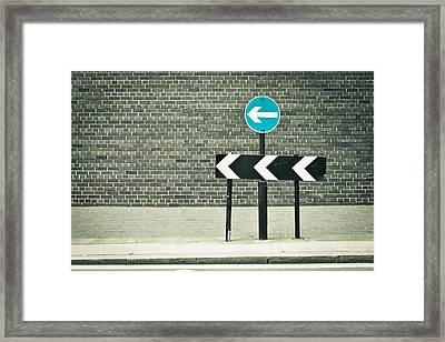 One Way Framed Print by Tom Gowanlock