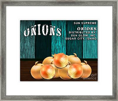 Onion Farm Framed Print