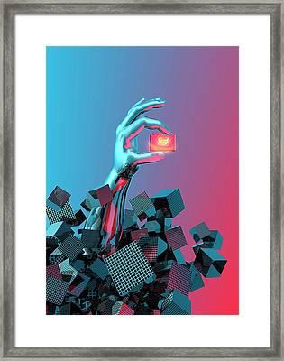 Online Data Security Framed Print