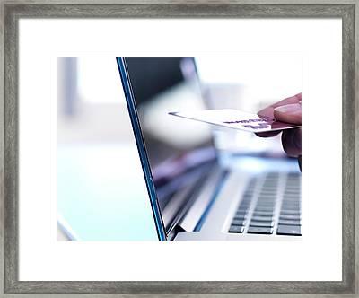 Online Shopping Framed Print