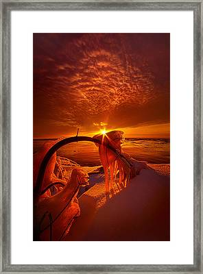 Only A Moment Framed Print