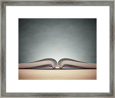Open Book Framed Print