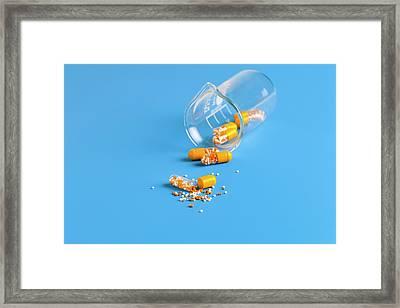 Open Capsule Framed Print