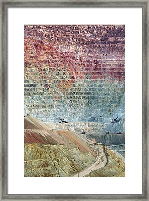 Open-cast Copper Mine Framed Print
