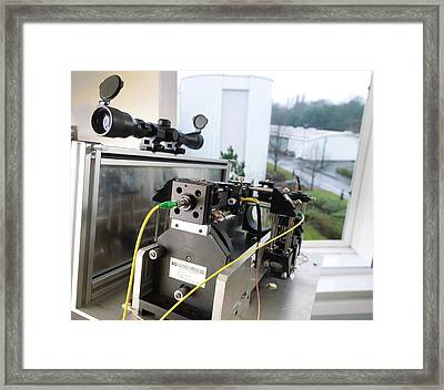 Open Path Spectrometer Framed Print