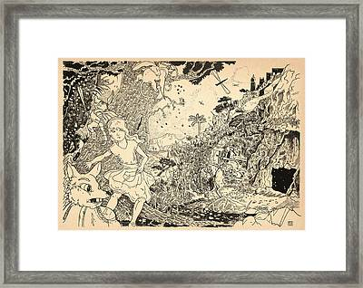 Framed Print featuring the drawing Open Sesame by Reynold Jay