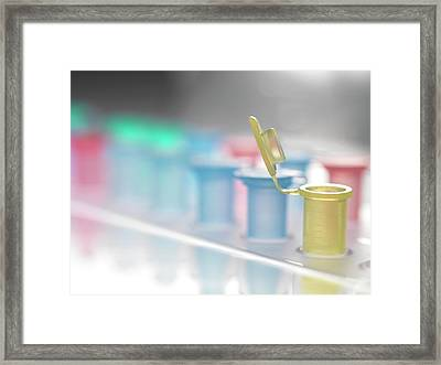 Open Vial Framed Print