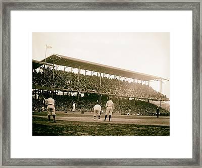 Opening Day At Griffith Stadium - Washington Dc 1922 Framed Print