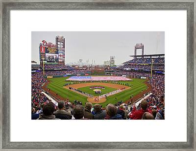Opening Day Ceremonies Featuring Framed Print