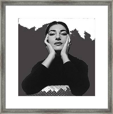 Opera Singer Maria Callas  Cecil Beaton Photo No Date-2010 Framed Print by David Lee Guss